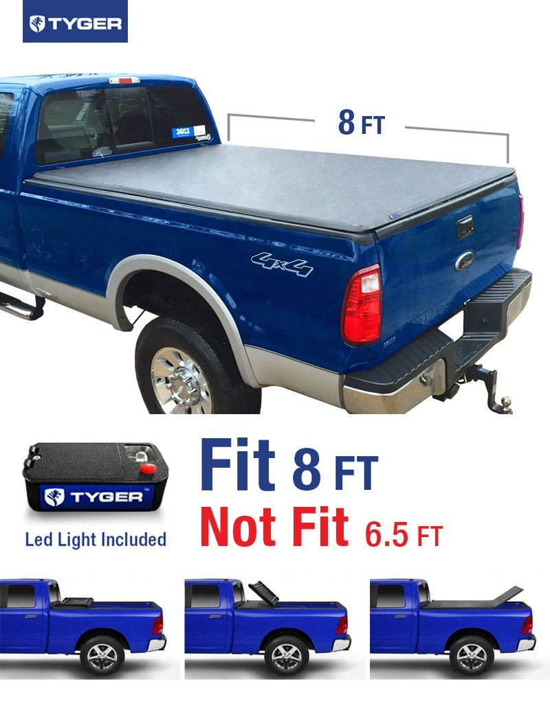 Get Quotations · Tyger Auto TG-BC3F1025 TRI-FOLD Truck Bed Tonneau Cover  1999-2016 Ford