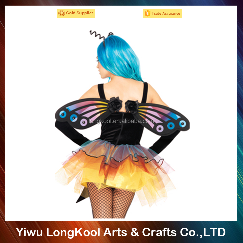 High quality halloween accessories cheap fairy wings colorful butterfly wings costume