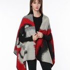 acrylic knitted scarf poncho for women