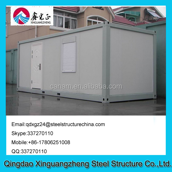 Sandwich panel frame flat pack living container house with one window