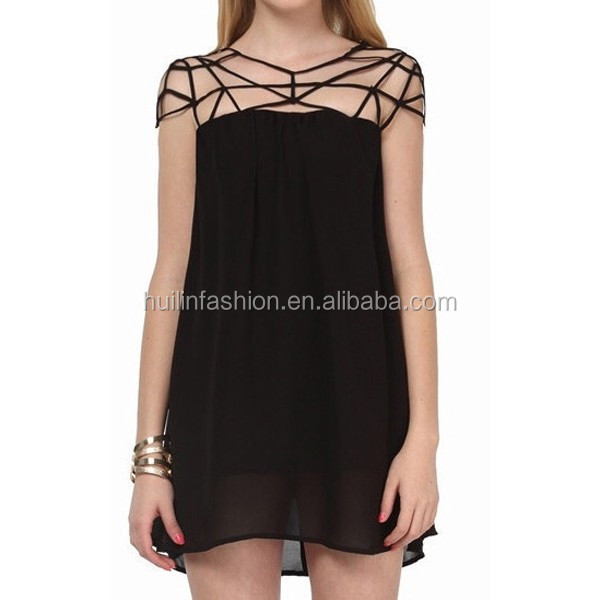 Sexy Fashion dongguan dress,new urben clothing cross fetish dress