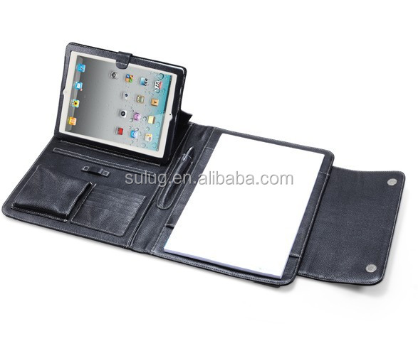 Leather Mini Briefcase / For Ipad leather portfolio case/For Tablet leather portfolio