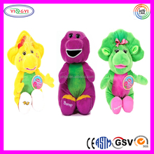 D370 New Official Barney and His Friends Cartoon Stuffed Barney Plush Toy