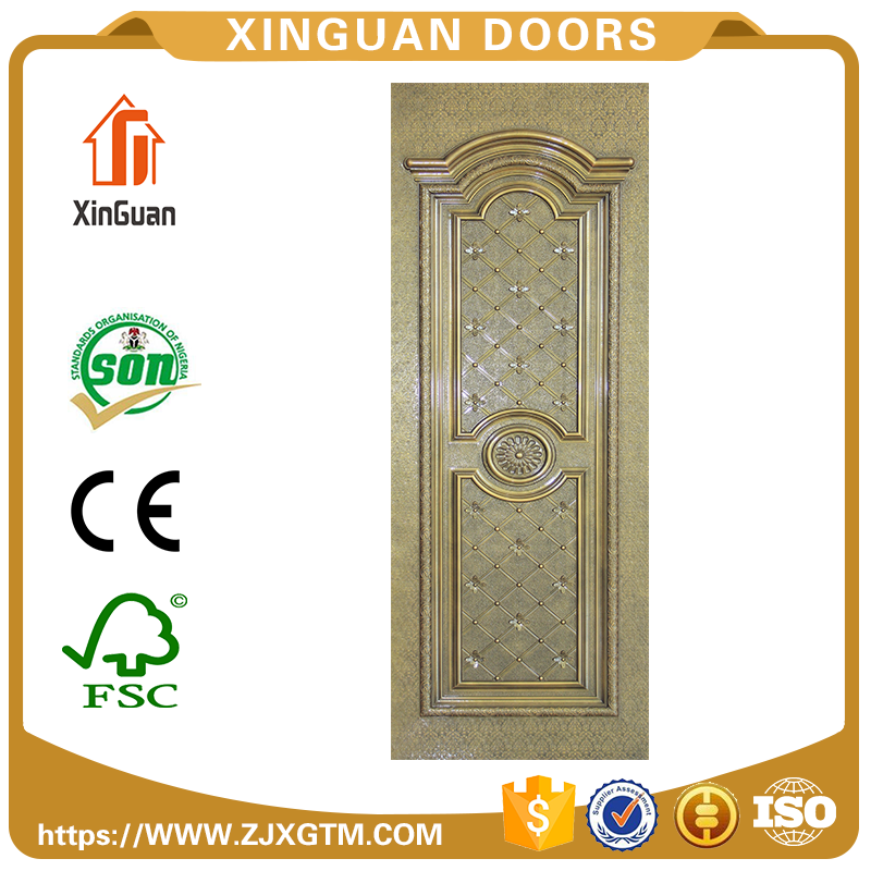 High quality Interior solid knotty alder 2 panel finished door