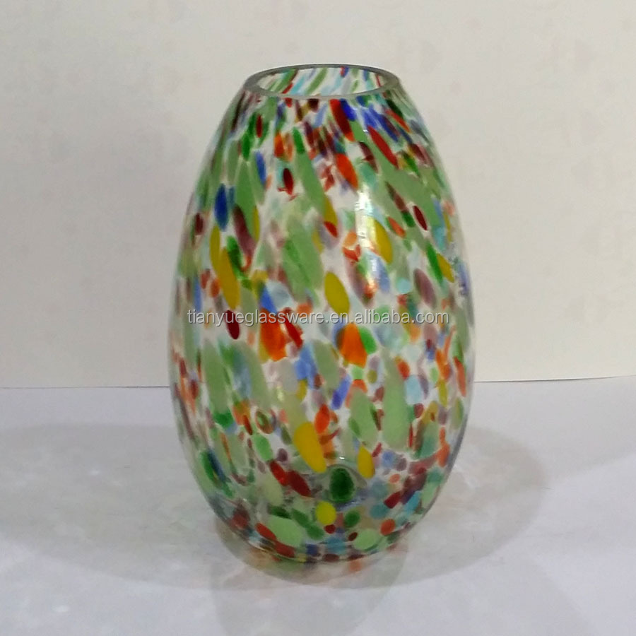 Mini Hand Blown And Painted Bottle