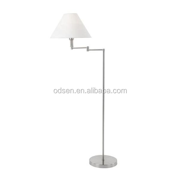 Simple Chromed Floor Standing Lava Lamp Swivel Head Lamp