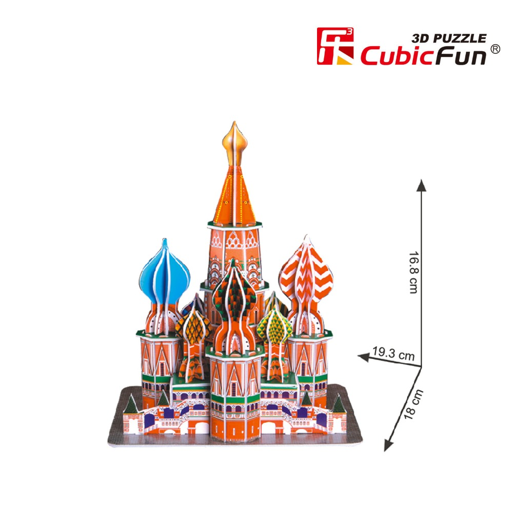St Basils Cathedral 3d Paper Puzzle World Famous Architecture ...