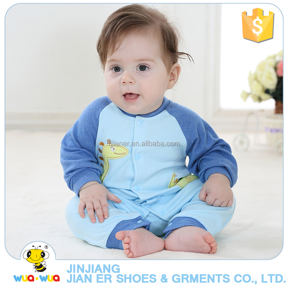 Blue color newborn baby infant winter cotton romper clothes