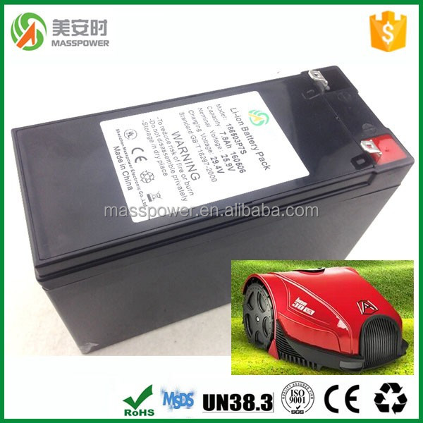 2017 new rechargeable 25.2V lithium ion <strong>battery</strong> for robotic lawnmover