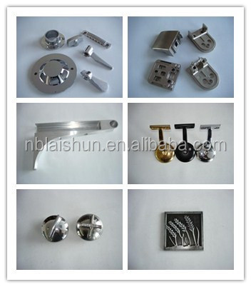customized die cast metal stamps hardware components anodized zinc