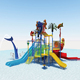Colorful Amusement outdoor water park playground slides with best price to sale