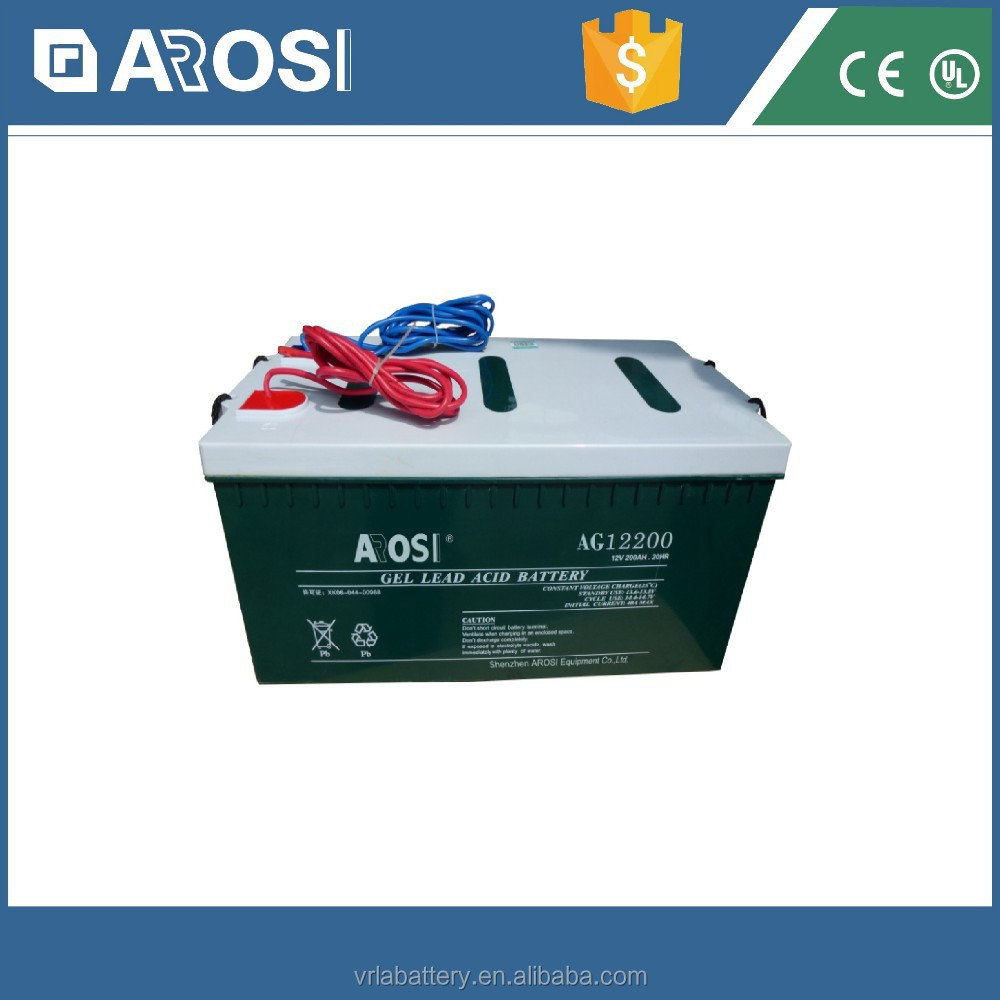 Arosi 12v 200ah Agm Recharge Battery For Solar System,Eps