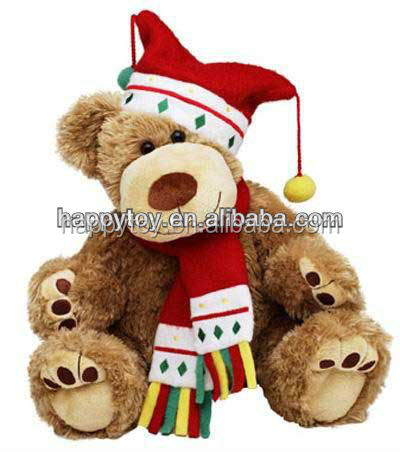 HI EN71 singing bear/musical plush toy,talking plush toy