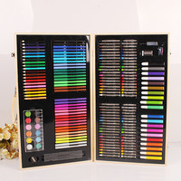 180 Piece Art & Craft Supplies Drawing and Painting Set in Wood Box Great Gift