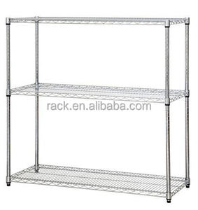 Hot Sale 3 Layer Storage Shelf Wire Mesh Iron Rack for Commercial Use