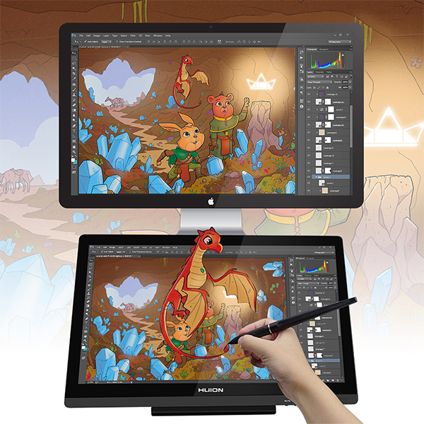 Shenzhen Factory Huion Gt-191 19 5 Inch Ips Lcd Monitor Interactive Pen  Displays & Tablet Styluses For Graphic Design - Buy Graphics Design Pen