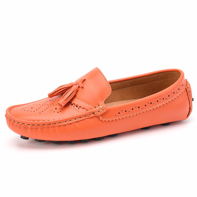 Ladies Leather Soles Beautiful Flat Shoes For Women
