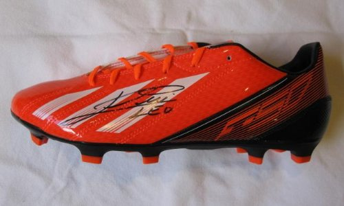 c16a46e2f61 Lionel Messi signed Adidas soccer football shoe boot Barcelona Argentina -  Autographed Soccer Cleats