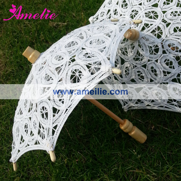 Mini Crochet Lace Umbrella As Baby Shower Favors