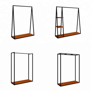 2018 Unique style Langlin clothing store fixtures garment rack display