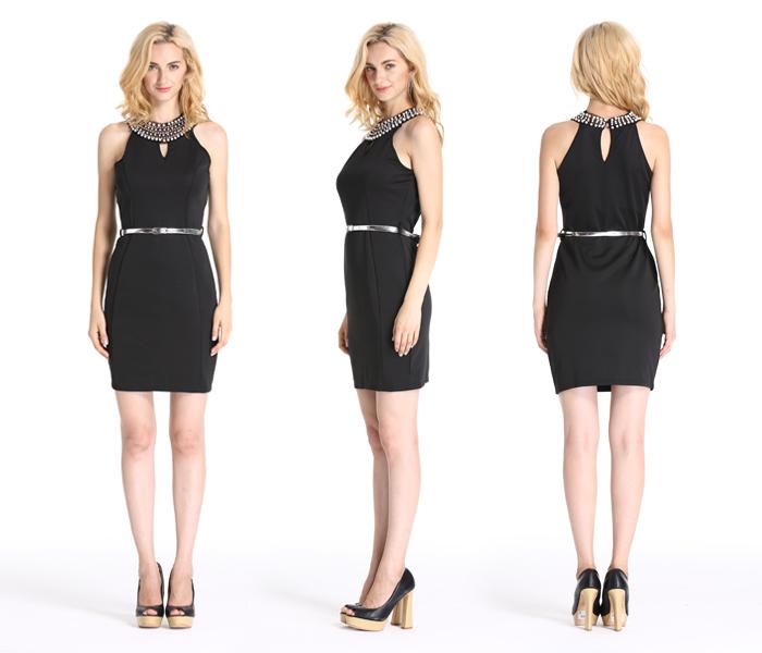 6c1234d3622e Designer one piece short dress Straight dress for office Dress tight black  short