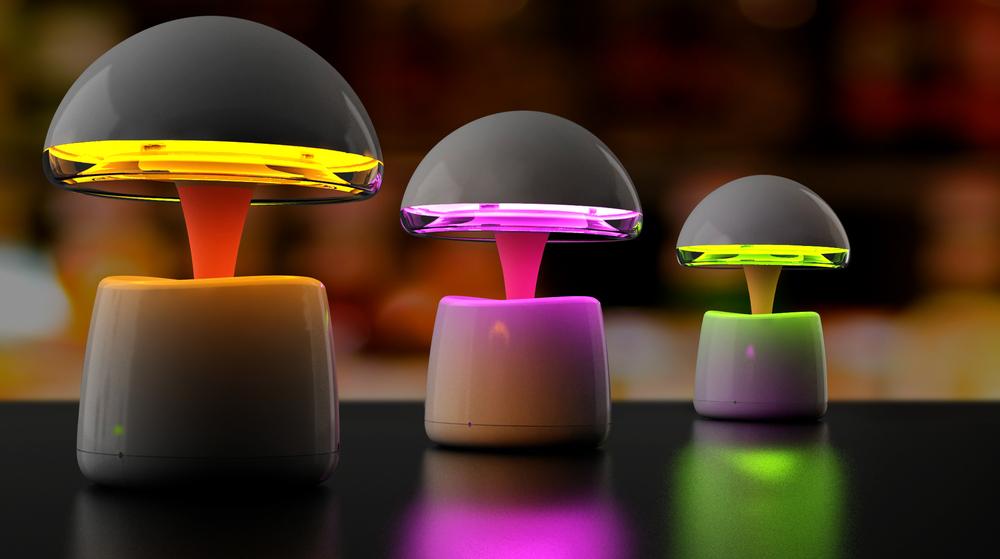 Mushroom Aladdin Lamp Led Bluetooth Speaker