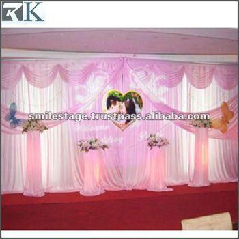 Wedding hall decoration with white background curtain buy wedding hall decoration with white background curtain junglespirit Gallery