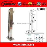 Safety Outside Frameless Glass Fence 304 Stainless Steel Pool Fence Glass Spigots