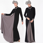 high quality crepe abaya anti-wrinkle breathable 100%polyester modern islamic maxi dress muslim