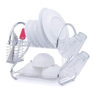 Kitchen Storage Multifunction Cabinet Stainless Steel Drying Corner Sturdy Dish Rack