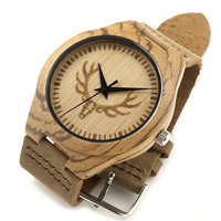 2017 handmade natural eco friendly factory wholesale customs logo waterproof quartz wood watch wrist watch wood bamboo for men