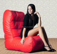 luxury PU leather beanbag couch, bean bag cushion