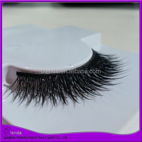 New quality synthetic eyelash 3d double layered strip eyelashes