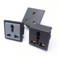 Multifunction universal wall outlet electric wall socket 3 pins with silver contact