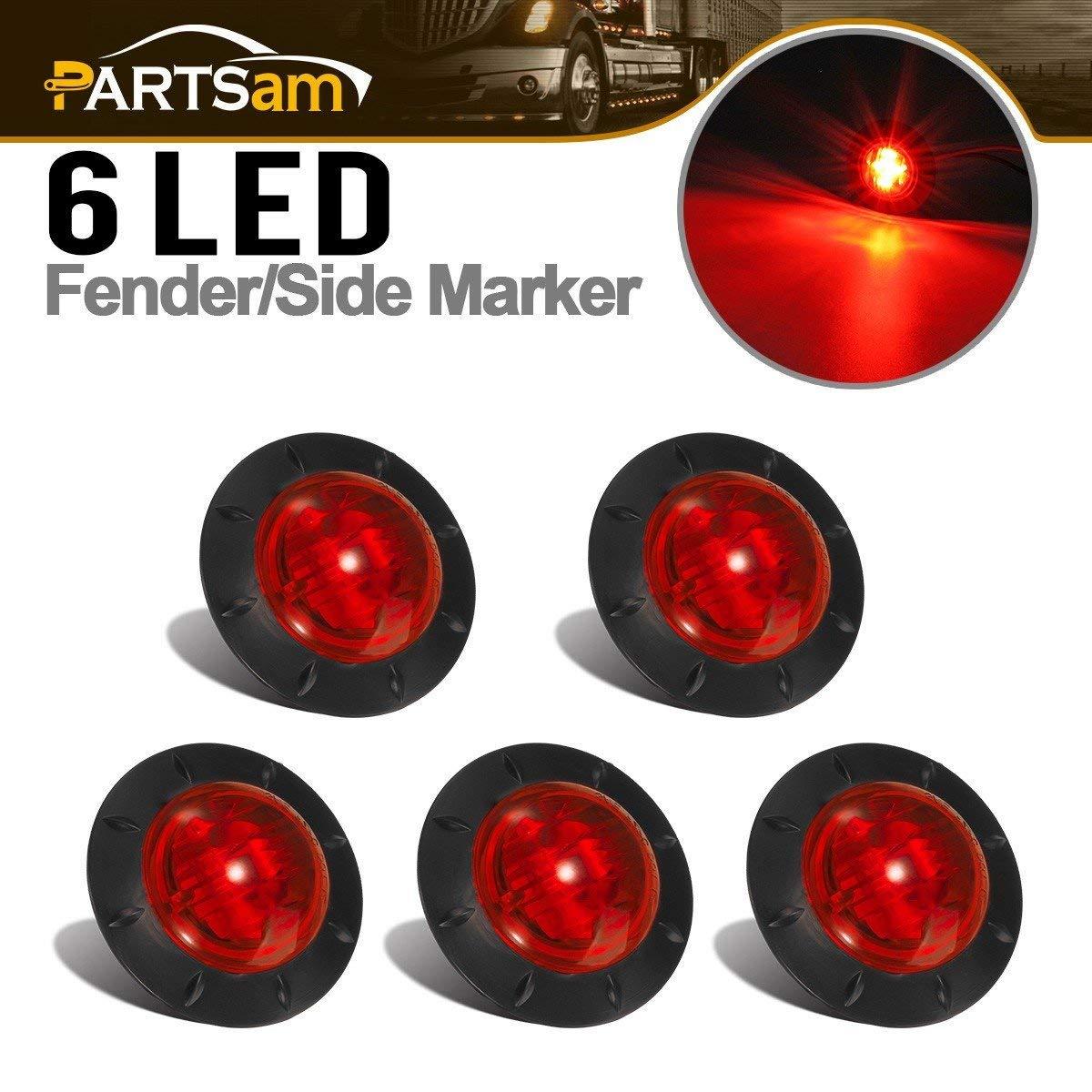 3.8 Trailer Side Marker,10Pack 24V LED Side Marker Lights Lamp,Indicators Light for Back Up Rear Truck Pickup Van ATV Lorries