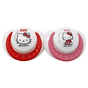 Nuk Hello Kitty Orthodontic Silicone Pacifiers-6-18M Size: Pack Of 2 NewBorn, Kid, Child, Childern, Infant, Baby