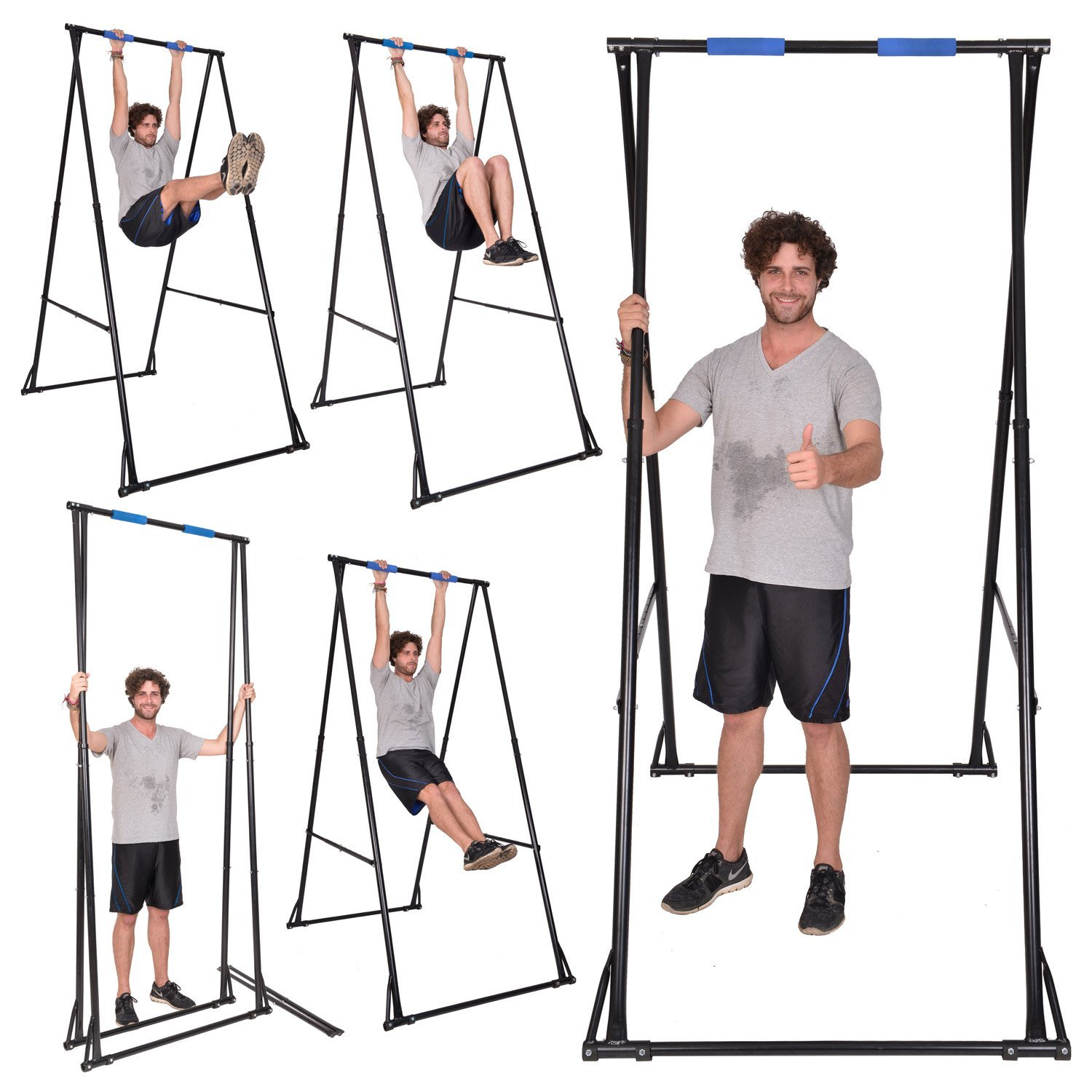 3254341d553 Free Standing Pull Up Bar Indoor Outdoor KT1.1520 Foldable Portable  Adjustable Pullup tower for