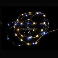 Factory outlet 2016 New style led star copper wire string light/led christmas light with stars LED linear series 20 stars sring