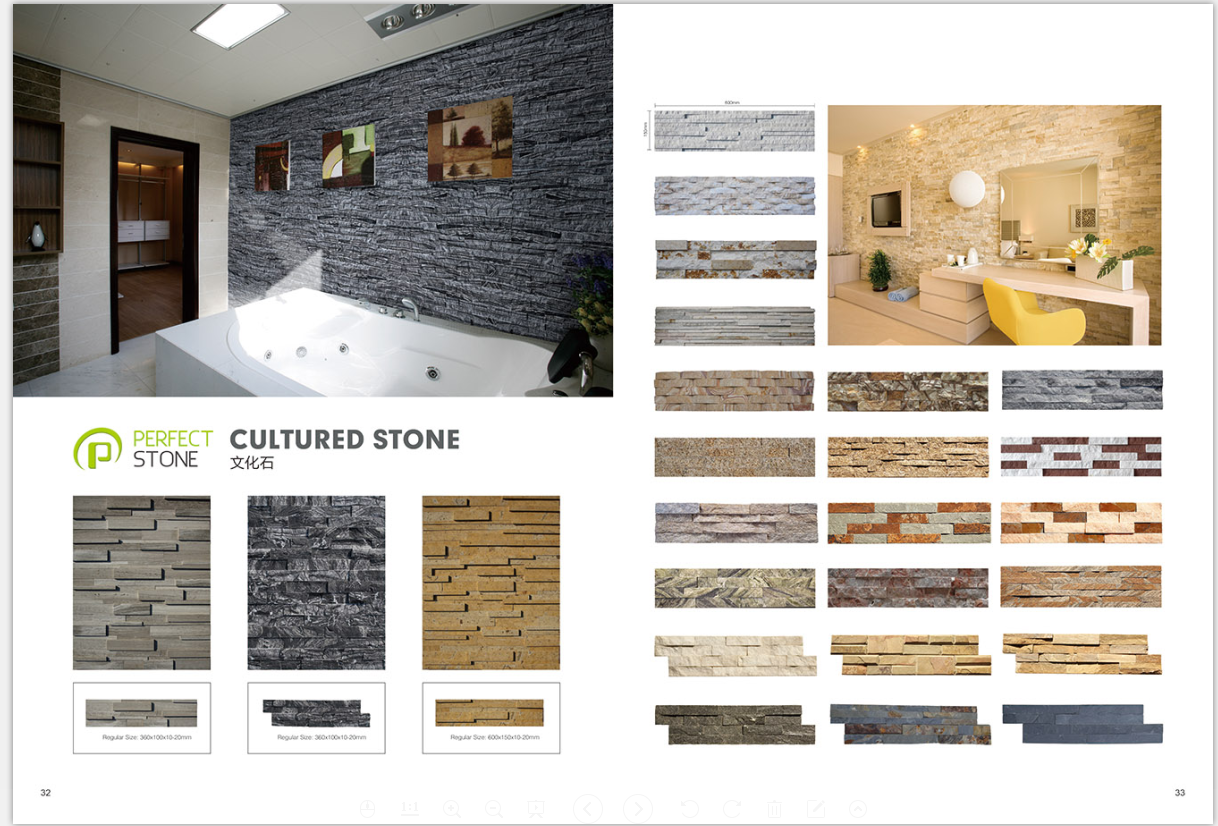 Culture slate stone cladding for natural slate culture stone