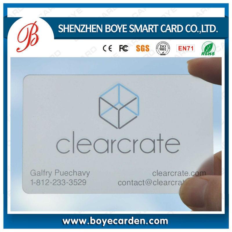 Transparent Business Card Printing Machine, Transparent Business ...
