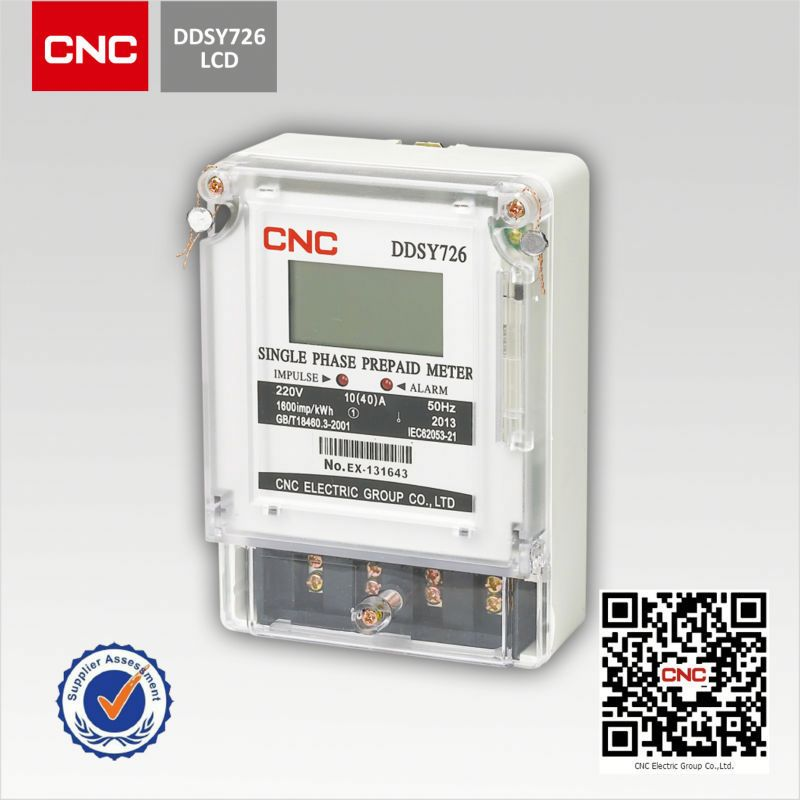 2018 DDSY726 electronic prepaid energy <strong>meter</strong>
