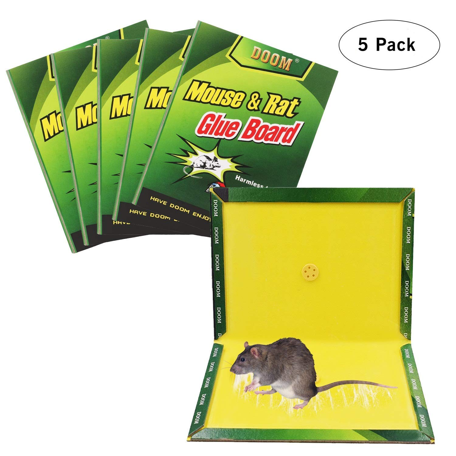 FYUFY Mouse Trap,Mouse Rat Glue Boards,(5-Pack) Mouse Glue Traps,Mouse Size Glue Traps Sticky Boards Mouse Catcher Mice Professional Strength Glue Insect Lizard Spider Cockroach Rodent Snake Strongly