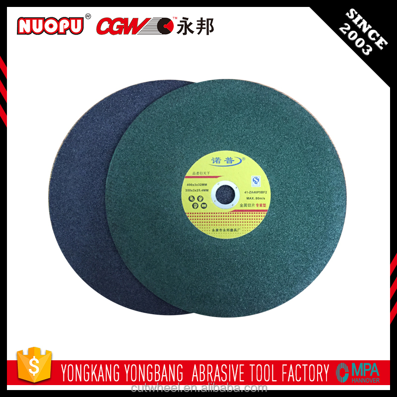 Made in china power tools metal cutting discs cut off wheels