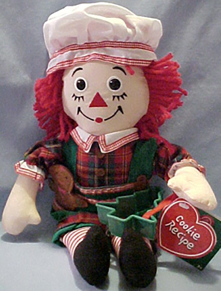 Christmas 2003 Raggedy Andy Chef with Cookie Cutter with Gingerbread Man Buttons