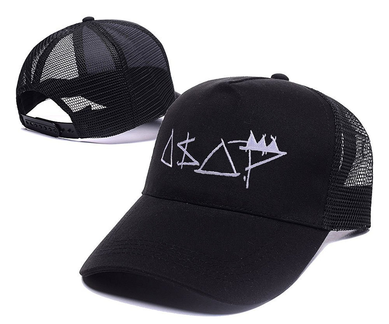 b1936d8dd3e Get Quotations · 4USPORT Asap Mob Rocky Logo Embroidery Hat Snapback  Baseball Cap