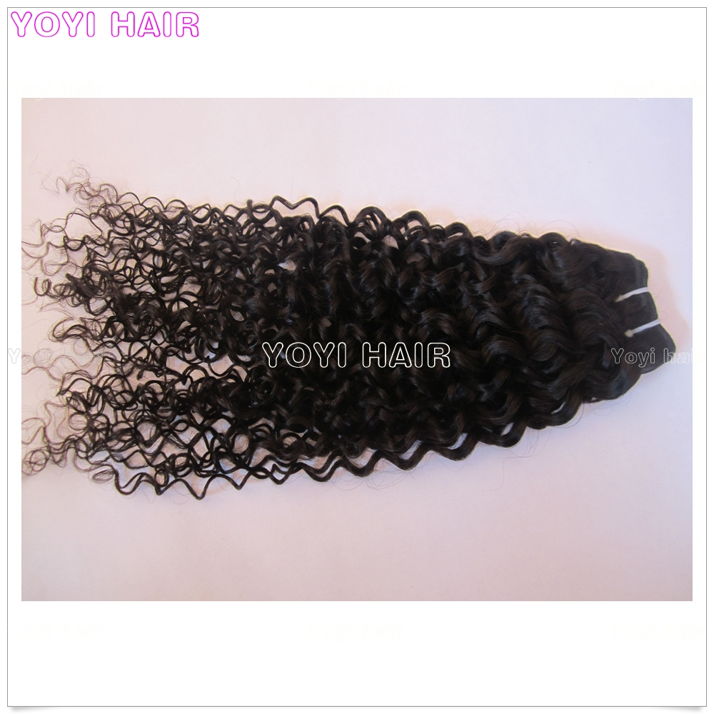 Factory wholesale price jerry curly brazil human hair extension