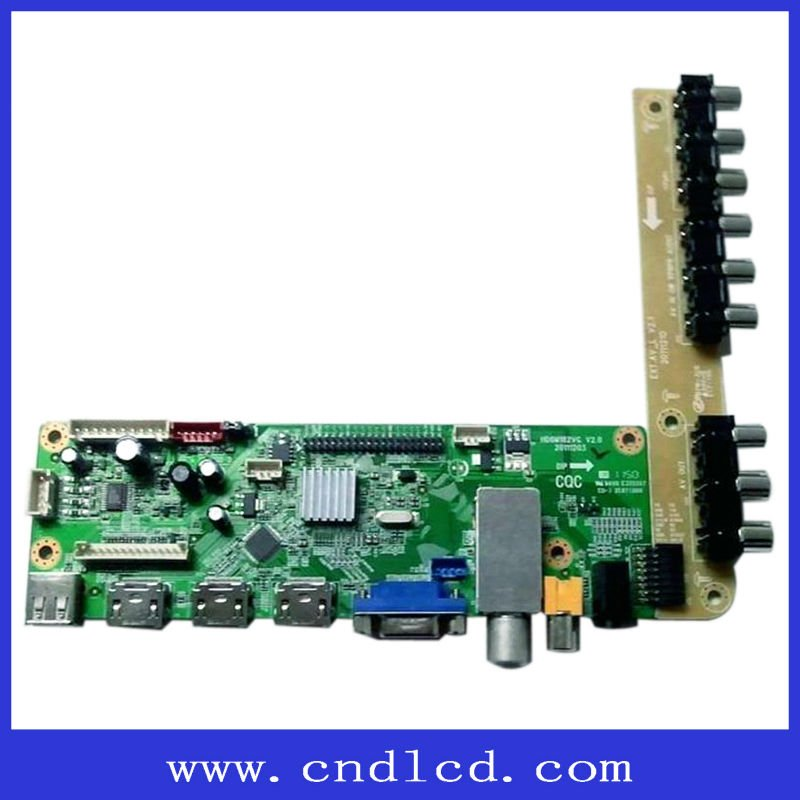 VGA+HDMI+USB+AV+DVI+Single/dual LVDS Driver Board With Imitation WINDOWS XP Interface OSD Humanization Operating Menu