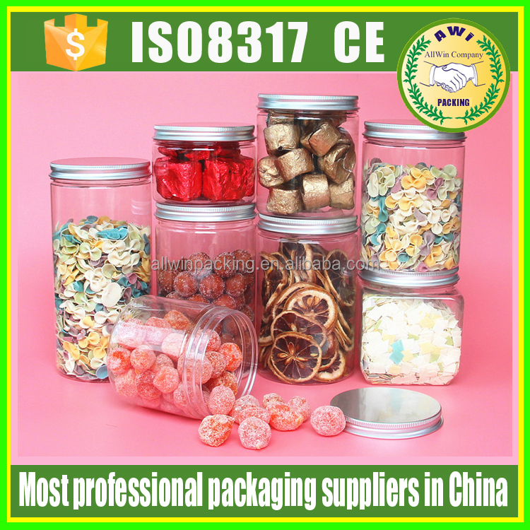 750ml low profile plastic jars plastic jar cosmetic lids low profile pet containers