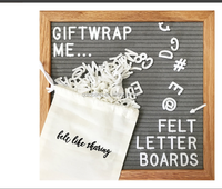 Gray Felt Letter Board 10x10 Inches. Changeable Letter Boards Include170 White Plastic Letters & Oak Frame