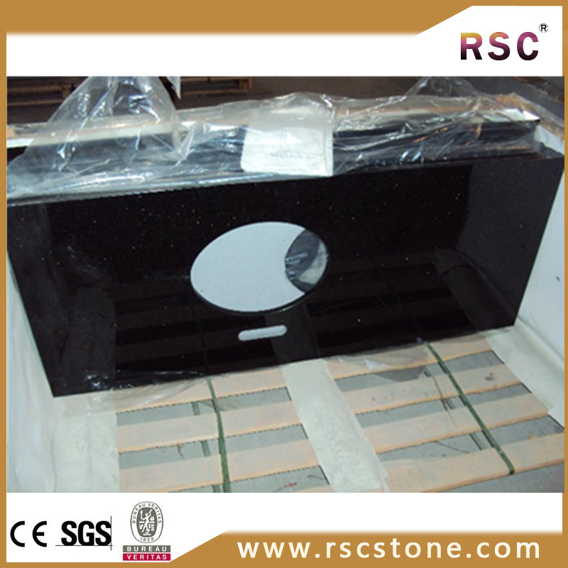 black amethyst granite slab for countertop